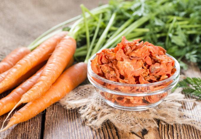 Chips de carottes au cumin