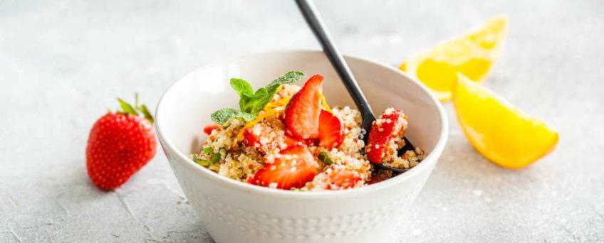 Salade fraises quinoa