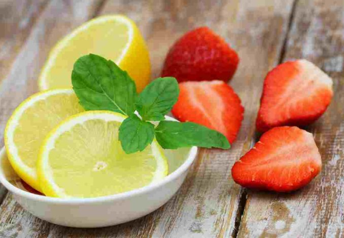 fraises citron basilic