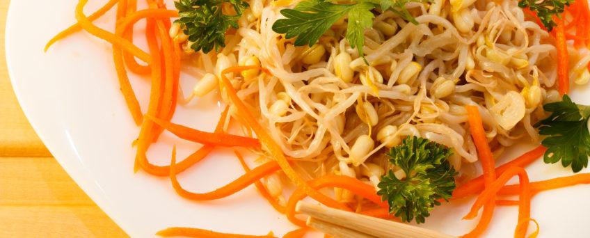 salade de germes de soja et carottes