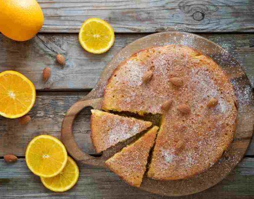 cake orange basilic