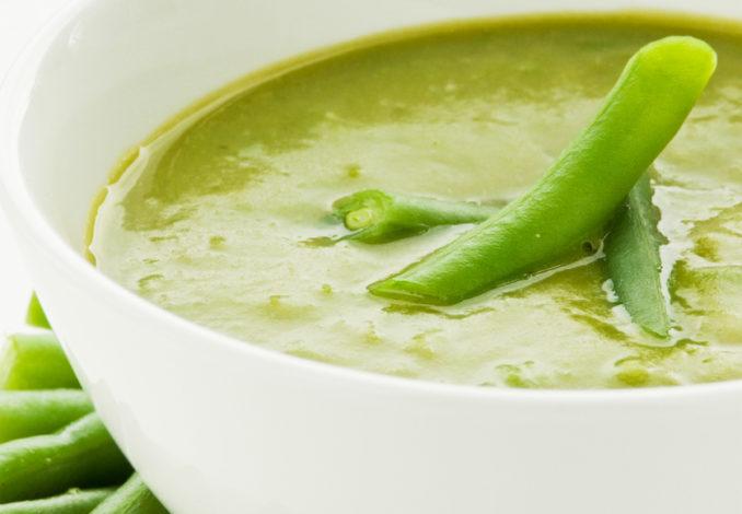 soupe de légumes à la spiruline