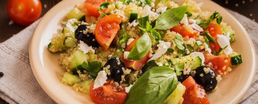 taboulé quinoa et crabe