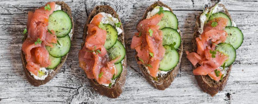 tartine saumon concombre