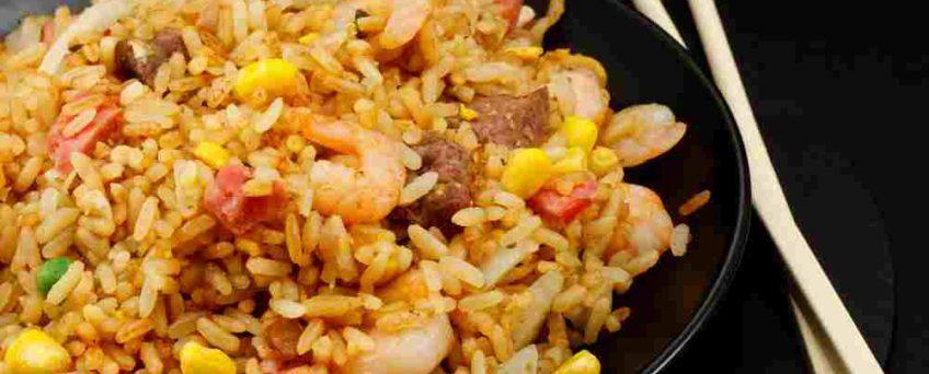 riz sauté fruits de mer