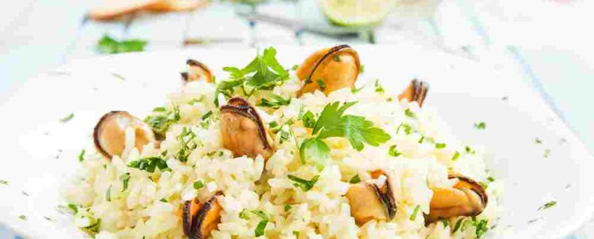 risotto saffrané moules