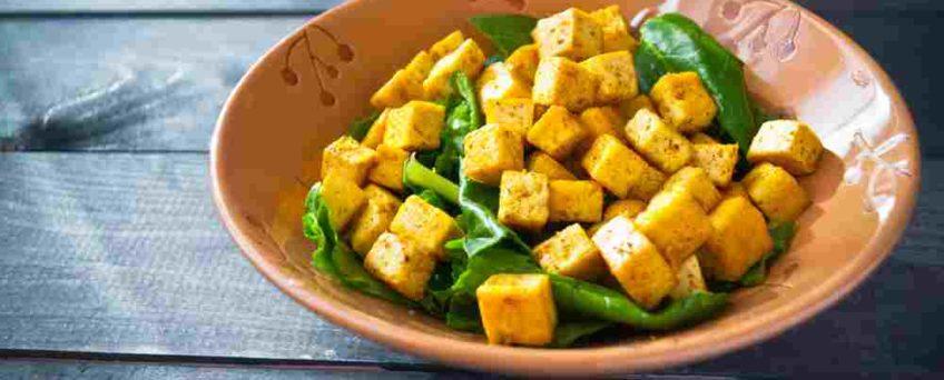 salade tofu épinards