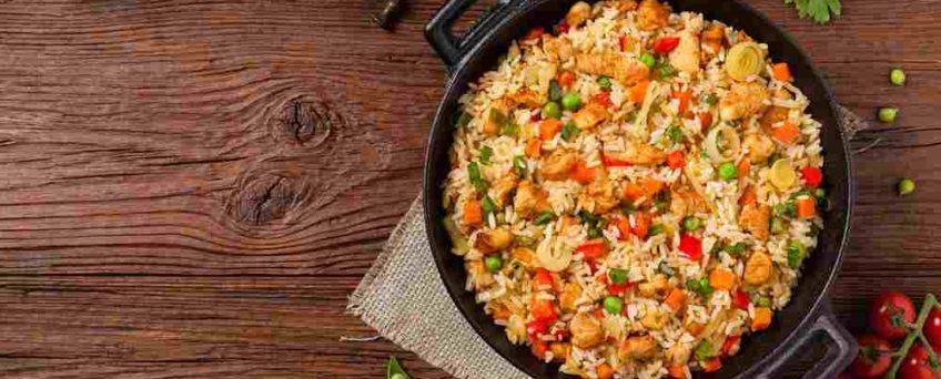 riz sauté poulet curcuma