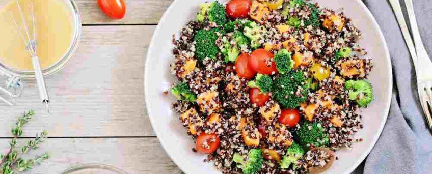 taboulé quinoa crabe